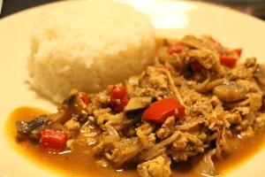 Chop Suey mit Reis
